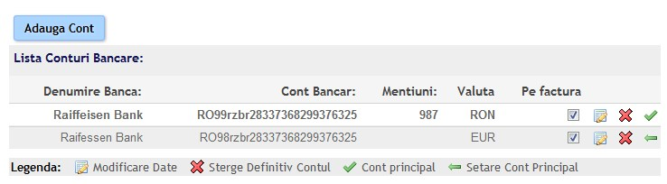 configurare valuta cont bancar